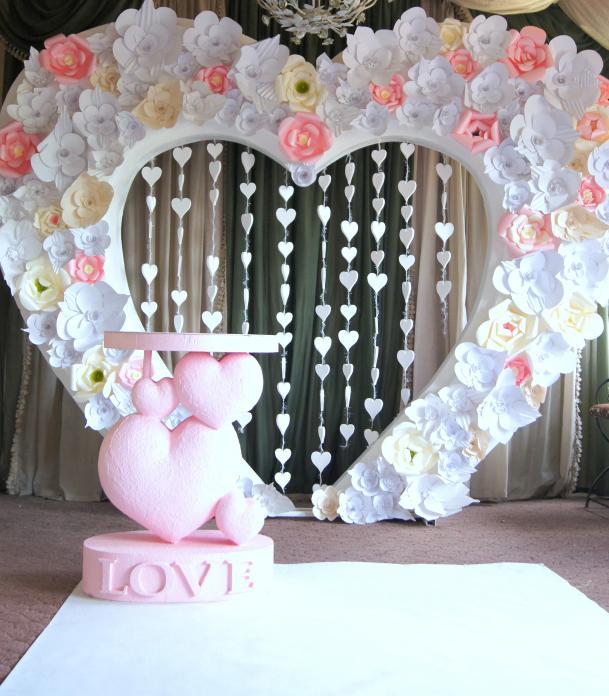 Сделать сердце своими руками свадебное 53