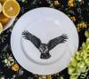 Тарелки обеденные, тарілка, кругла, керамика, с рисунком, качественная